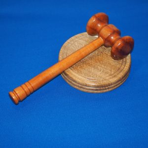 Handled Gavel and Sound Block