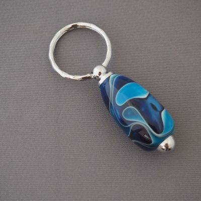 Blues and silver keyring 2