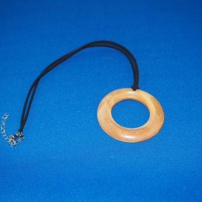 Olive Wood Pendant Necklace 2