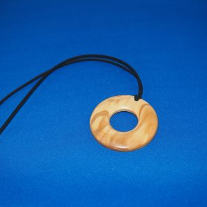 Olive Wood Pendant Necklace 3